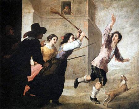 Bartolomé Esteban Murillo (Pérez) - The Prodigal Son Driven Out