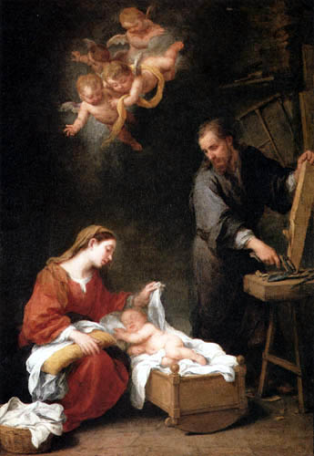 Bartolomé Esteban Murillo (Pérez) - The holy Family