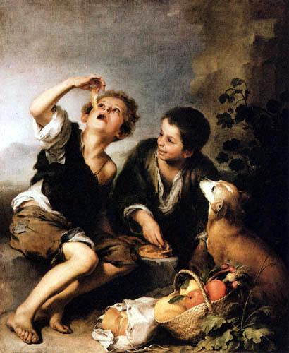 Bartolomé Esteban Murillo (Pérez) - Die Pastetenesser