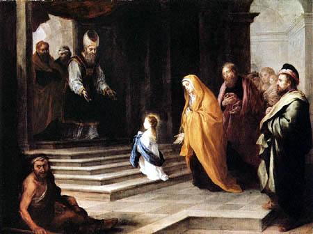 Bartolomé Esteban Murillo (Pérez) - La présentation de la Vierge dans le temple