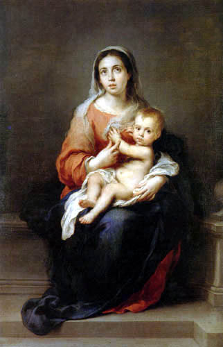 Bartolomé Esteban Murillo (Pérez) - Maria with child