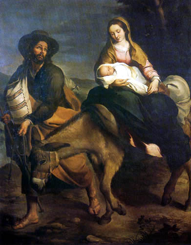Bartolomé Esteban Murillo (Pérez) - The Flight into Egypt