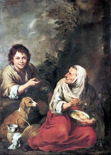 Bartolomé Esteban Murillo (Pérez) - Old woman and boy