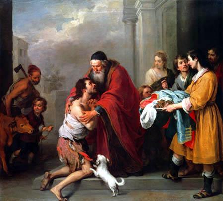 Bartolomé Esteban Murillo (Pérez) - The Return of the Prodigal Son