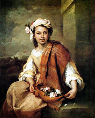 Bartolomé Esteban Murillo (Pérez) - The flower girl