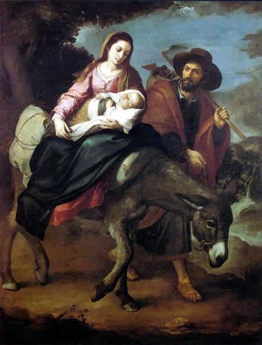 Bartolomé Esteban Murillo (Pérez) - The Flight into Egypt