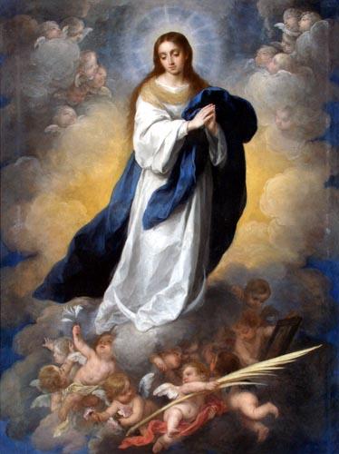 Bartolomé Esteban Murillo (Pérez) - La Inmaculada Concepción del espejo