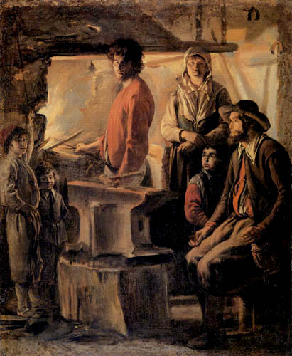 Lois le Nain - The smith in his smithy