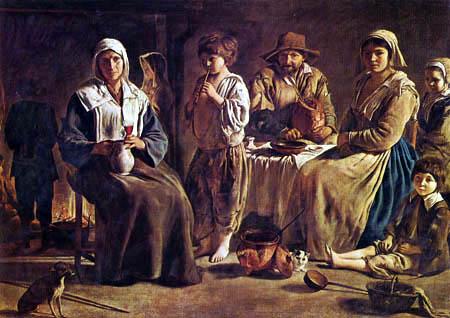 Lois le Nain - Farmers Family in a interior