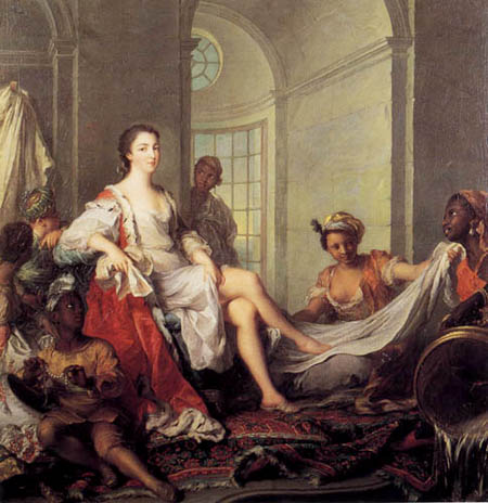 Jean-Marc Nattier the Younger - Mademoiselle de Clermont in the bath with slaves