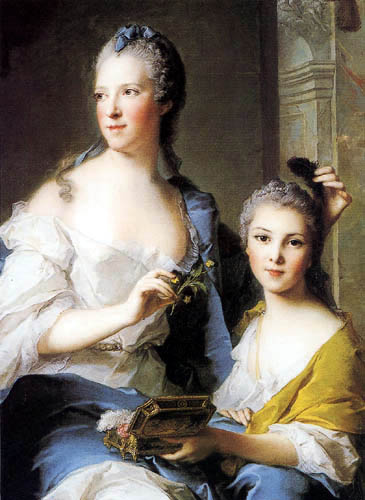 Jean-Marc Nattier the Younger - Madame Marsollier and his daughter