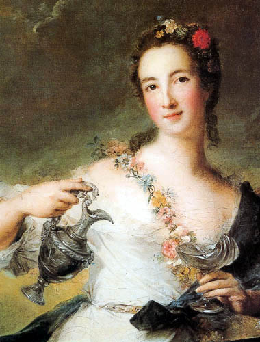 Jean-Marc Nattier the Younger - Portrait of a young Woman