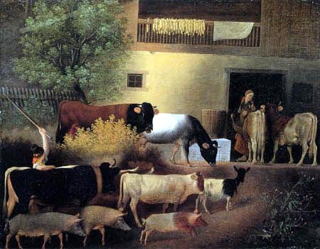 Johann Michael Neder - Home coming of the herd