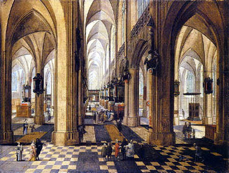 Pieter Neeffs I - Interior of the cathedral of Antwerp