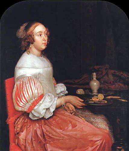 Eglon H. van der Neer - Young Lady at Breakfast