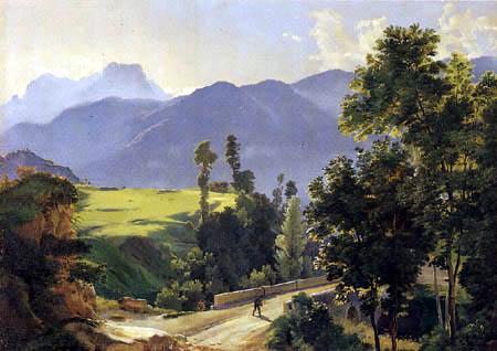 Friedrich Nerly (Nehrlich) - In the Italian alps