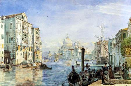 Friedrich Nerly (Nehrlich) - Canal Grande mit Salutekirche und Dogana