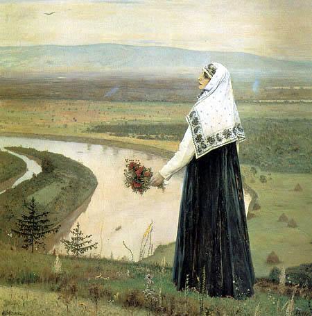 Michail Wassiljewitsch Nesterow - Auf dem Hügel