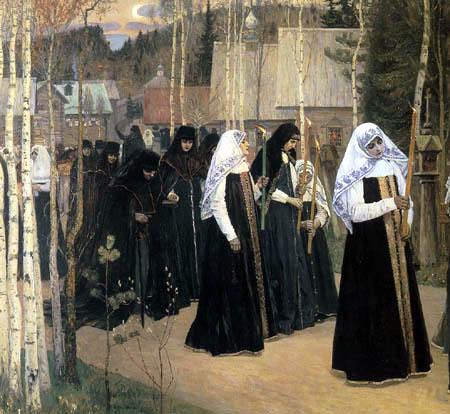 Mikhail Vasilyevich Nesterov - The nuns ordination