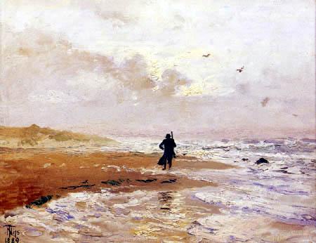 Thorvald Niss - Beachlandscape. Skagen. Grenen