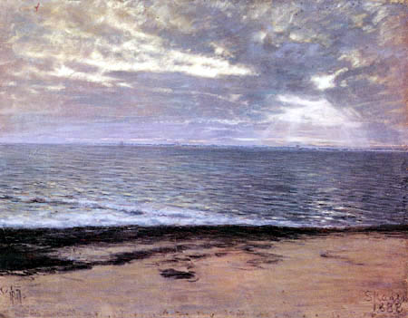 Thorvald Niss - In the morning at the beach, Skagen