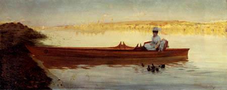 Giuseppe de Nittis - Duck feeding