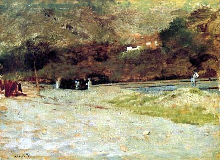 Giuseppe de Nittis - Vor den Bergen