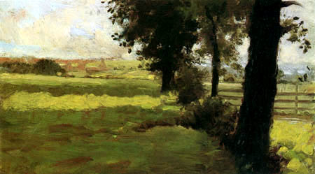 Giuseppe de Nittis - Prados y árboles