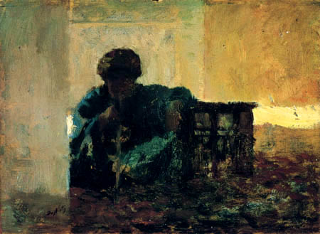 Giuseppe de Nittis - An Arab man smoking