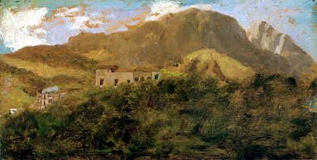 Giuseppe de Nittis - On the edge of the Mount Vesuvius
