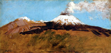 Giuseppe de Nittis - Vesuvius, landscape with snow