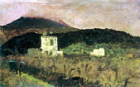 Giuseppe de Nittis - Die Hänge des Vesuv I.