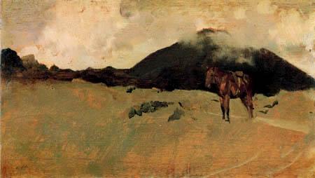 Giuseppe de Nittis - Die Hänge des Vesuv II.