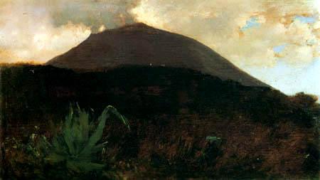 Giuseppe de Nittis - Die Hänge des Vesuv VI.