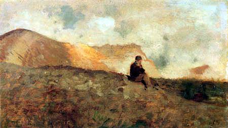 Giuseppe de Nittis - Before Vesuvius