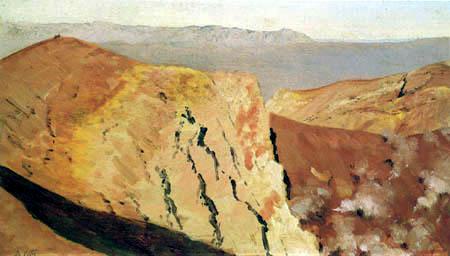 Giuseppe de Nittis - En el cráter del Vesubio