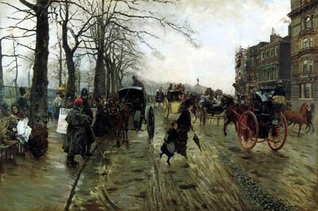 Giuseppe de Nittis - Picadilly, London