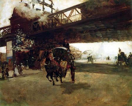Giuseppe de Nittis - Unter der Brücke