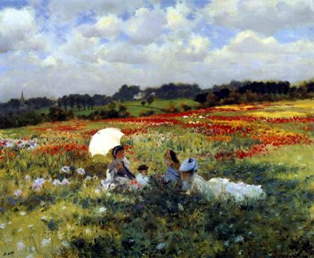 Giuseppe de Nittis - In the poppy fields before London