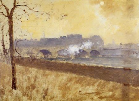 Giuseppe de Nittis - Puente sobre la Seine