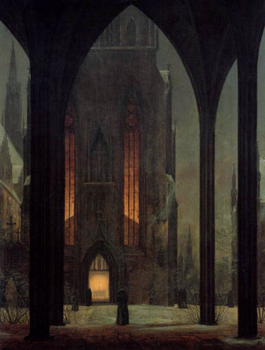Ernst Ferdinand Oehme - Cathedral in the winter