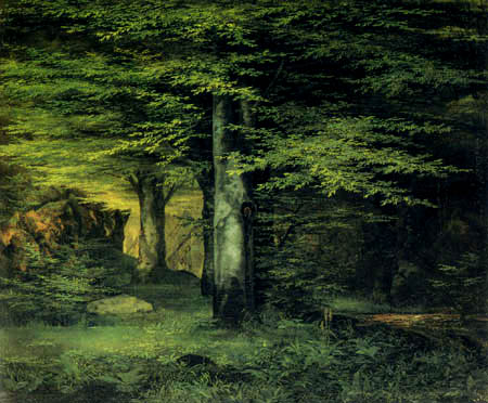 Ernst Ferdinand Oehme - In the forest