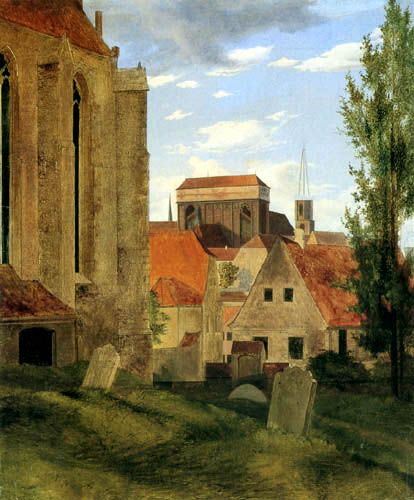 Ernst Ferdinand Oehme - View from St. Afra at Meissen Cathedral
