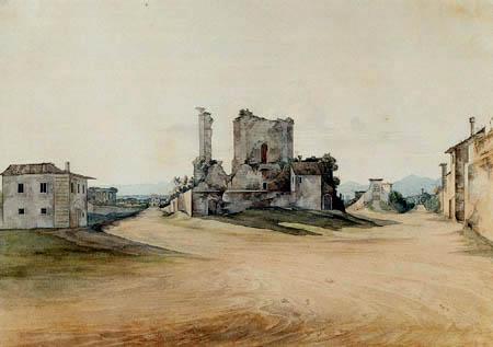 Ernst Ferdinand Oehme - Gegend bei Rom
