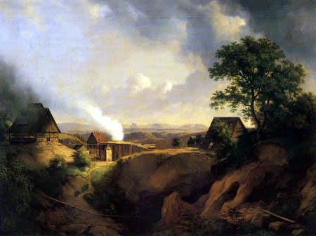 Ernst Ferdinand Oehme - Landscape near Maxen