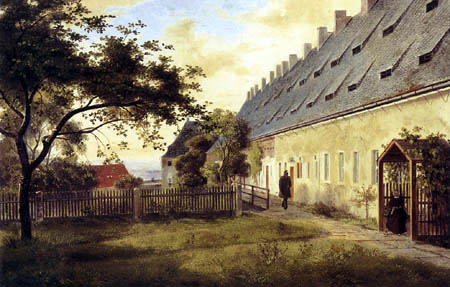 Ernst Ferdinand Oehme - The large barracks on the Fortress Kingstone