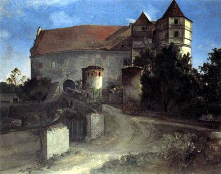 Ernst Ferdinand Oehme - Entry to the castle Scharfenberg