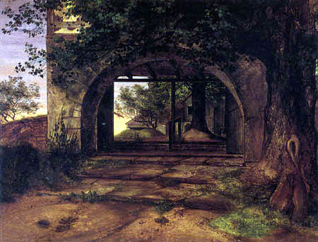 Ernst Ferdinand Oehme - Entrance to the Church yard into Briessnitz