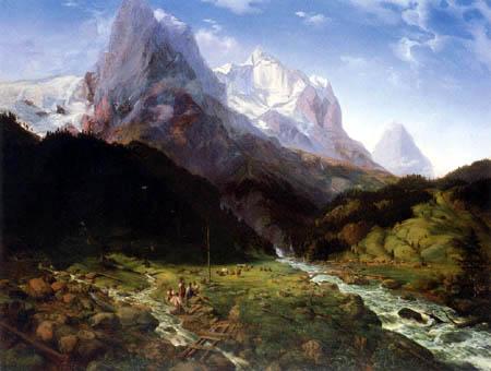 Ernst Ferdinand Oehme - Wetterhorn, Switzerland