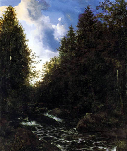 Ernst Ferdinand Oehme - The Dittersbach valley near Dresden